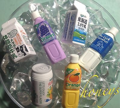 """DRINKS MILK & JUICES~Mini Play Food~Great Size For 15""""-18"""" American Girl Dolls"""