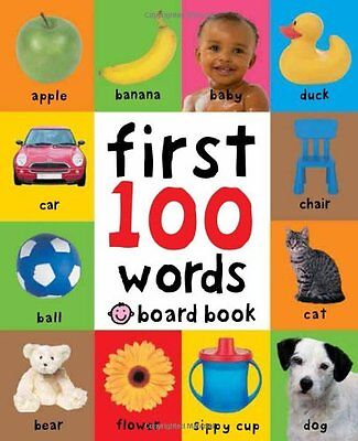 First 100 Words by Roger Priddy Board book CXX FREE SHIPPING