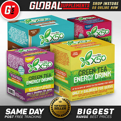 Green Tea X50 By Tribecca Health X 50 Detox – All Flavours – Healthy Energy