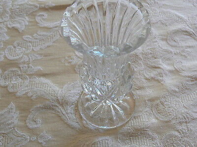 Cute Vintage Fancy Clear Pressed Glass Tall Tooth Pick Holder