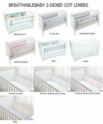 Breathable Baby 2-Sided Mesh Cot Bed Airflow Cot Bumper 11 Design Breathablebaby