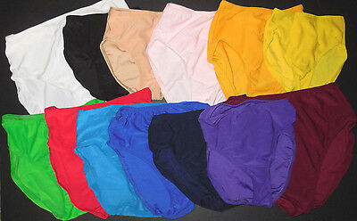 NWT French Cut  Dance Trunks Briefs  Many Color Choices Ladies & Child Sizes