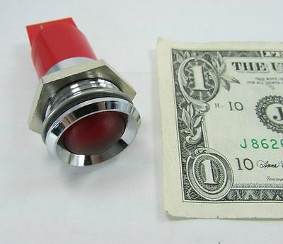 Fancy CML Chrome Plated Brass Red Control Panel Indicator Lamps, Light 24VAC