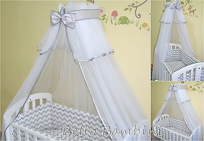 LUXURY CANOPY DRAPE - 320 x160cm for BABY Cot/Cot Bed