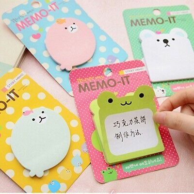 Cute Animal Memo It Sticker Bookmark Index Tab Pads Flags Sticky Notes