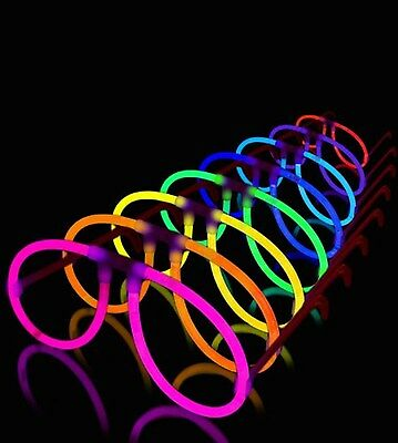 50 Aviator Lumistick Glow Eyeglasses - 8 Color Assorted Mix by Lumistick NEW