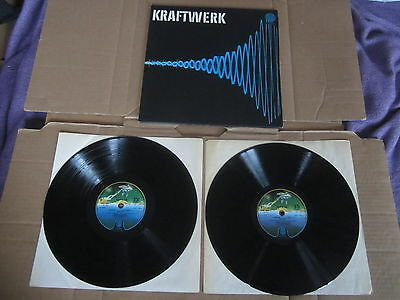 KRAFTWERK 2x LP RARE ORIGINAL UK VERTIGO SPACESHIP LABEL GATEFOLD  SLEEVE  EX++