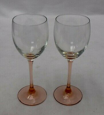 """CRISTAL d'ARQUES Durand crystal ROSE pattern WATER GOBLET 8"""""""