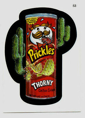 """2006 Topps Wacky Packages trading card #53 """"Prickles"""" Potato Chips"""