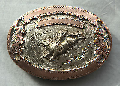 Vintage Cowboy Bull Rodeo Hand Made Engraved Western Belt Buckle