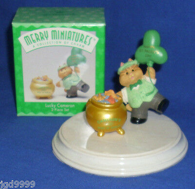 Hallmark St. Patrick's Day Merry Miniatures Lucky Cameron 1996 Leprechaun Cat