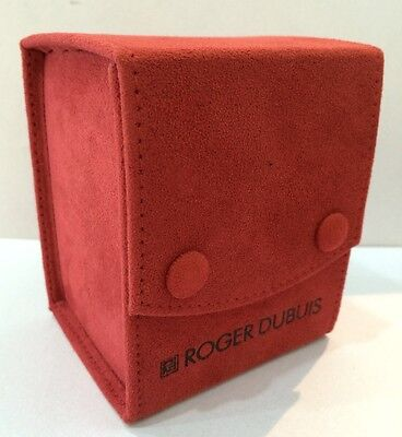 Roger Dubuis Red Service Travel watch pouches mint in Condition - 2pcs