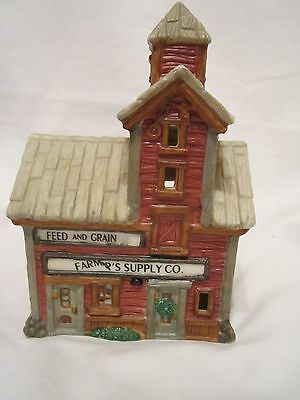 Home Town America Collection Ceramic Feed and Grain Farmers Supply Co. Building