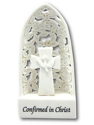 CONFIRMATION LIGHT UP LED PLAQUE FEATURING A CROSS, 140x70mm, Collectible Gift