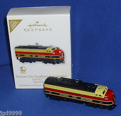 Hallmark Limited Ornament Lionel Trains Kansas City Southern Locomotive 2010 NIB