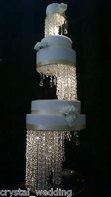 Crystal wedding Cake Stands illusion design