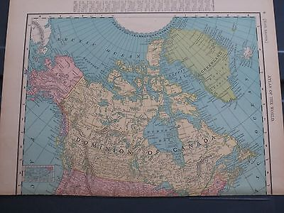 1886 McNally  Antique MAP Dominion of Canada