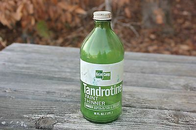 Vintage Tandrotine Paint Thinner Bottle - Union Camp Corp