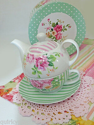Tea For One Set Porcelain Cup And Saucer Tea Pot For One Set With Gift Box