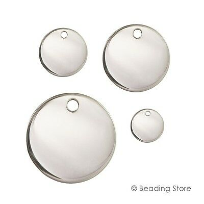 Various 925 Sterling Silver Round 24ga .5mm Discs Blanks Tags Engraving Stamping