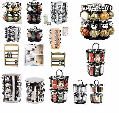 Spice Herb Spices Storage Rack Wall Mounted Free Standing Revolving Holder Stand
