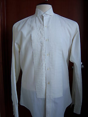Ivory (off white) Tuxedo Wing Collar Formal Shirt most mens sizes avilable