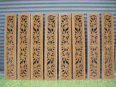 NOS Buddha Temple Teak Wood Carved Fretwork BREEZEWAY Architectural Element