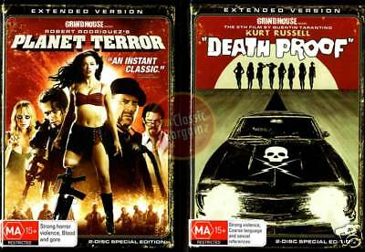 GRINDHOUSE PLANET TERROR+DEATH PROOF =Tarantino DVD NEW
