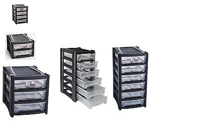 2 / 3 / 4 / 6 Shallow Drawer Storage Unit Cabinet Office Bedroom Organizer Tower