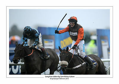 Long Run Horse Racing A4 Photo Sam Waley-Cohen King George Vi 2012 Kempton 2