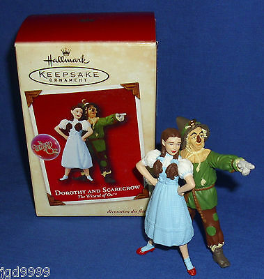 Hallmark Ornament The Wizard of Oz Dorothy and Scarecrow Used in Damaged Box