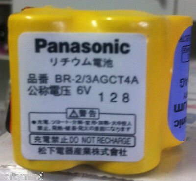 Brand New Panasonic BR-2/3AGCT4A 6 Volts 2400mah Lithium PLC Battery with Wire