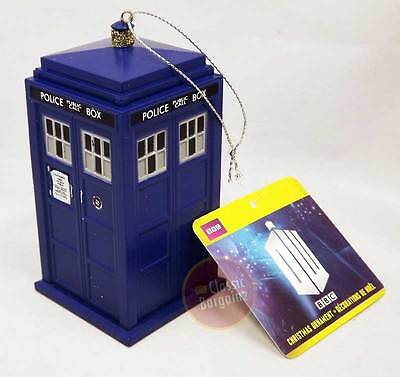 "Doctor Who - 4.5"" Blow Mold Xmas Ornament - Tardis NEW Christmas Tree Decoration"