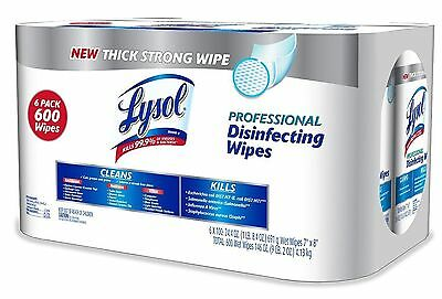 Lysol Professional Disinfecting Wipes 100 ct 6 pk NEW Free Shipping