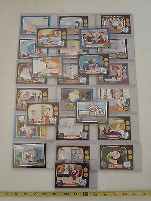 Family Guy Trading Cards Lot of 25 in Plastic Sleeves Party Favor Toys Vending