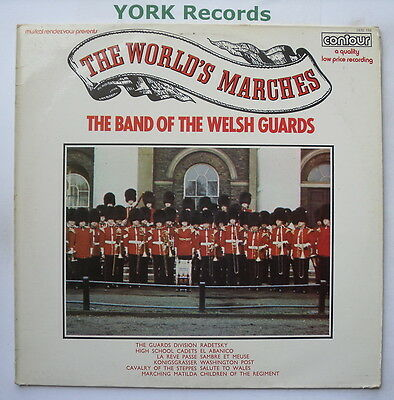 BAND OF THE WELSH GUARDS - The Worlds Marches - Ex LP Record Contour 2870 156