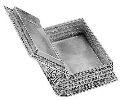 Ari D Norman Sterling Silver Book Pill Box Branded Hallmarked Gift Boxed