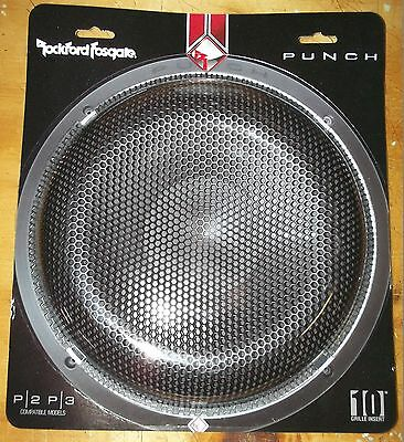 """Rockford Fosgate P2P3G-10 Mesh Grill P3 P2 10"""" Subwoofer Protector Grille New"""