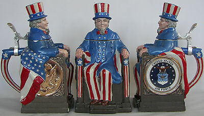 U.S. Air Force Uncle Sam character beer stein