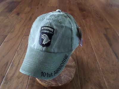 NEW ARMY 101st AIRBORNE HAT EMBROIDERED U.S MILITARY BALL CAP OD GREEN