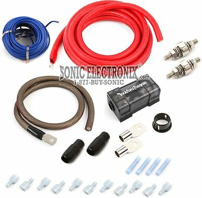Rockford Fosgate RFK1 1/0 AWG Gauge Amplifier/Amp Power Installation Wiring Kit