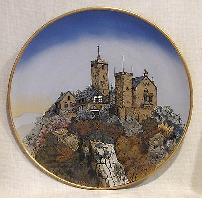 """Mettlach 17 1/4"""" Charger # 2361 with Castle Scene"""