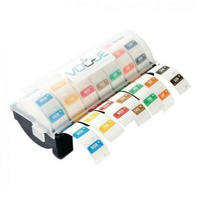 Kitchen Day Dots Dissolvable Blank Sticker Label Set Dispenser 7 Day Use By Roll