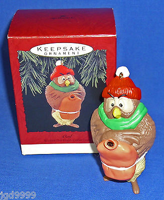 Hallmark Winnie the Pooh Collection Ornament Owl with Hot Water Bottle 1993 NIB