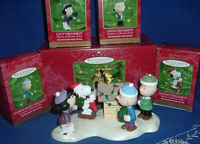 Complete Peanuts Ornament Set A Snoopy Christmas 2000 Lucy Linus Charlie Brown