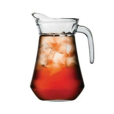6x Jug / Pitcher, 1 Litre, Glass, Water, Drinks, Beverages