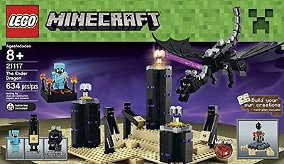 NEW & SEALED! LEGO Minecraft 21117 The Ender Dragon with 4 Minifigures