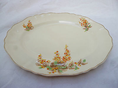 ART DECO J & G MEAKIN SUNSHINE EXTRA LARGE SERVING PLATE - good condition