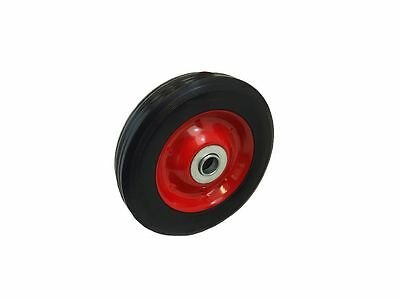 "6"" Solid Rubber Trolley Sack Truck WHEEL Metal Centre 16mm Roller Bearing"