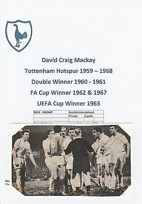 Dave Mackay/Terry Medwin Tottenham Hotspur Rare Original Signed Magazine Picture